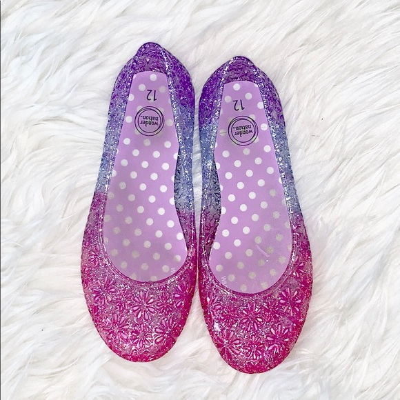 Wonder Nation Girls Sparkly Jelly Shoes